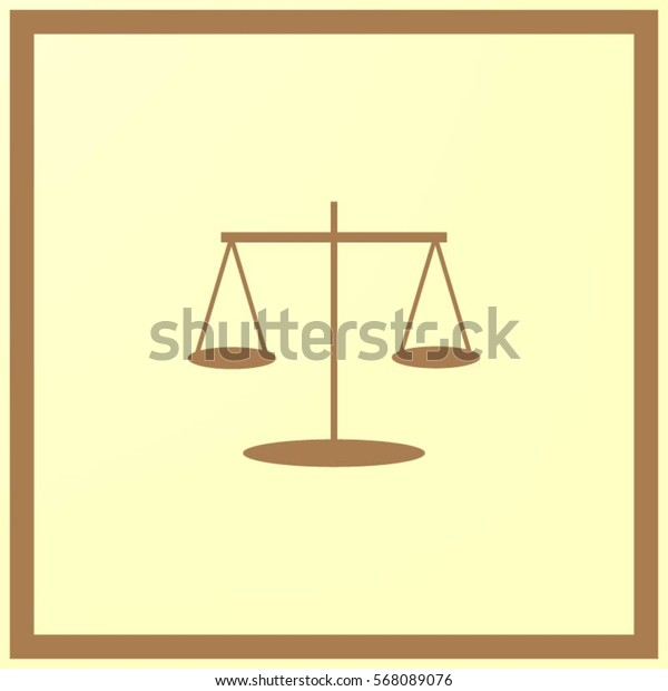 Scales balance vector icon