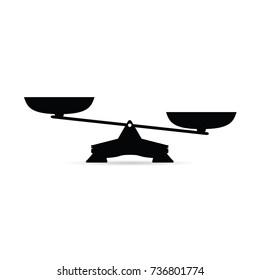 scales in black color art illustration