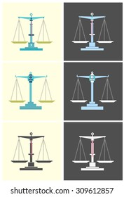 Scales flat. Icon vector