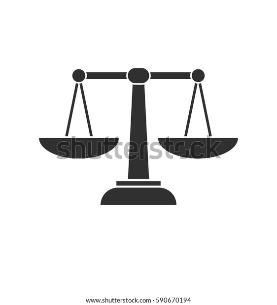 Design On Stock Bank.Scales Gray Bank Icon Isolated On Stock Vector Royalty Free