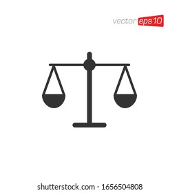 Scales Icon Design Vector Template