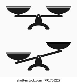 Scales icon set. Vector illustration.
