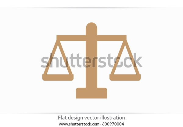 Scales icon vector illustration EPS 10.