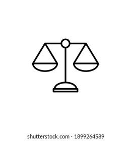 Scales icon vector. Law scale icon. Scales vector icon. Justice