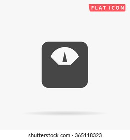 Scales Icon Vector. Simple flat symbol. Perfect Black pictogram illustration on white background.