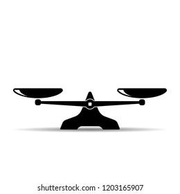 Scales icon. Vector single symbol.