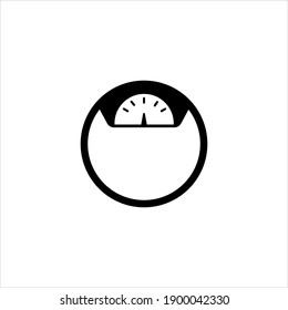 Scales icon. Weight scale symbol sign design illustration