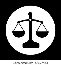 Scales of justice icon illustration design