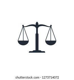 Scales of justice icon, law firm Icon