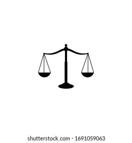 Scales Justice icon, Scales Justice sign and symbol vector design