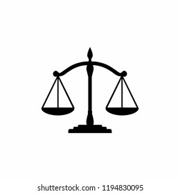 Scales Justice icon symbol vector