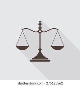 Scales of justice icon - Vector