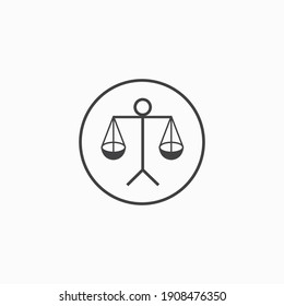 scales justice icon vector logo design clip art illustration