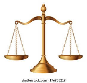 Scales of Justice is an illustration of the scales of justice symbolizing the measure of a case's support and opposition in a court of law.