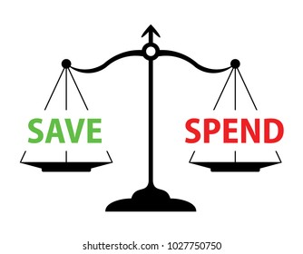 scales with save and spend words