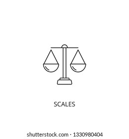 Scales vector icon, outline style, editable stroke