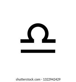 Scales vector icon. Zodiac Sign. Scales Constellation.