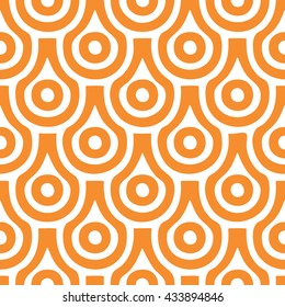 Scallop pattern seamless vector background tile