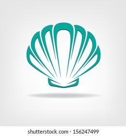 Scallop seashell. Company logo design. Company logo design.