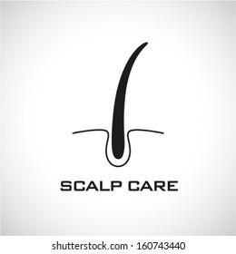 Scalp care icon