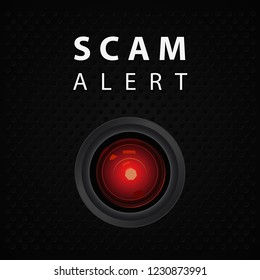 Scam alert indicator, warning poster