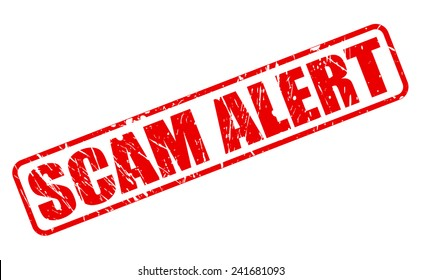 SCAM alert red stamp text on white