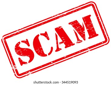 Scam Rubber Stamp Sign
