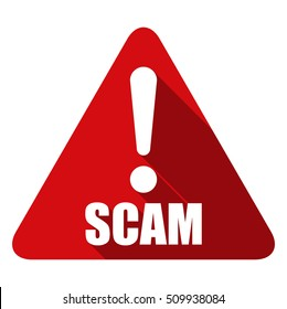 Scam warning sign illustration