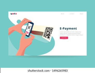 Scan Payment Illustration for landing page