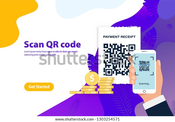 Scan Qr Code Mobile Phone Business Stock Vector (Royalty Free