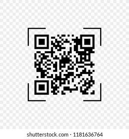 Scan QR code, symbol, app. Electronic , digital technology, barcode. Vector illustration.