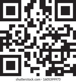 Scan QR code vector on a white background