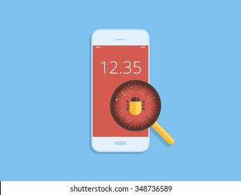 Scan virus on mobile