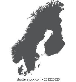 Scandinavia Map Images, Stock Photos & Vectors | Shutterstock