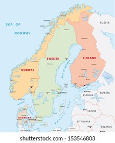 Scandinavia Map Images, Stock Photos & Vectors | Shutterstock
