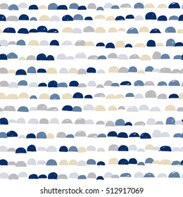 Scandinavian abstract cute colorful semicircle moon design with white background, pattern seamless backdrop wallpaper. Finnish pattern