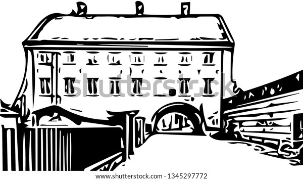 Scandinavian architecture vector