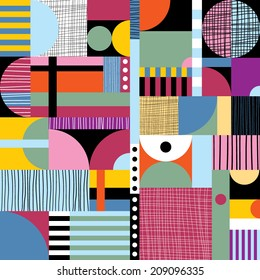 Scandinavian colorful pattern