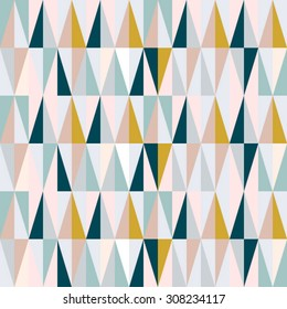 scandinavian design triangles seamless pattern vector background.