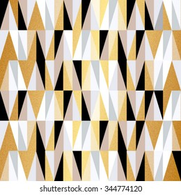 scandinavian design triangles seamless pattern vector background. Christmas colors vector geometric background.