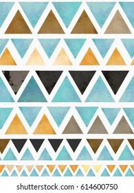 scandinavian design triangles seamless pattern vector background.