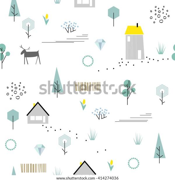 Image Vectorielle De Stock De Motif Scandinave Géométrique