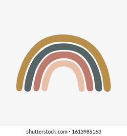 Scandinavian rainbow for children's room wall decor