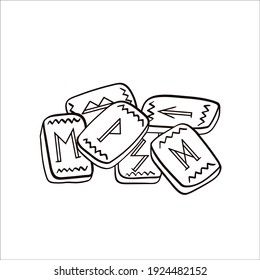 Scandinavian runes. Vector sketch in doodle style. Isolated object on a white background.