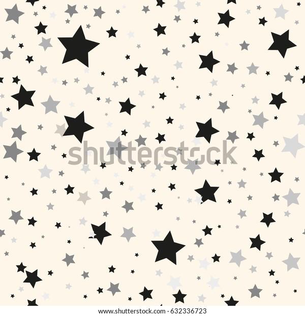 Scandinavian seamless pattern with stars. Stock vector.