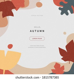 scandinavian style cut out shapes collage of autumn concept background. abstract background with colorful illustration. fall season design for web page, editorial, promotion. vector design of eps 10.