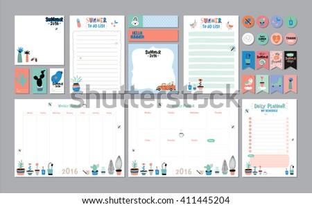 scandinavian weekly daily planner template organizer のベクター画像