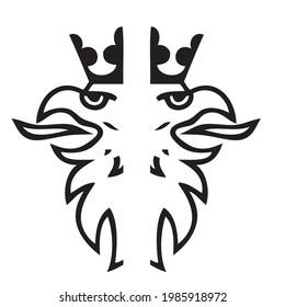 Scania black logo. King black logo isolated on white background.