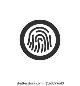 scanner fingerprint. monochrome icon