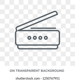 Scanner icon. Scanner design concept from Electronic devices collection. Simple element vector illustration on transparent background.
